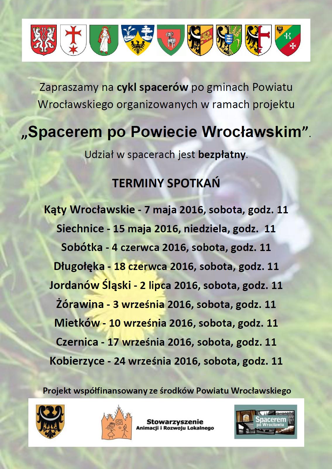 Plakat Spacerem po Powiecie Wrocławskim
